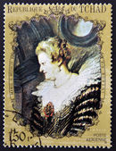CHAD - CIRCA 1972: A stamp printed in Chad shows Marie de' Medici by Rubens, circa 1972 — Stock Photo