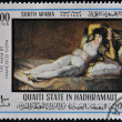 ������, ������: SOUTH ARABIA CIRCA 1980: A stamp printed in South Arabia shows The Clothed Maja by Francisco de Goya circa 1980