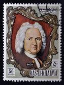 RAS AL-KHAIMAH - CIRCA 1970: a stamp printed in the Ras al-Khaimah shows Johann Sebastian Bach, circa 1970 — Stock Photo