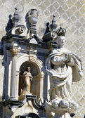 Sculpture of the Immaculate Virgin. At the back facade of the Church of St. Francis — Stock Photo