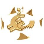 Shark Attack Euro — Stock Photo