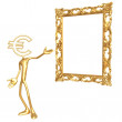 Stock Photo: Art Frame Euro