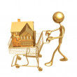 Stock Photo: Shopping Cart Home