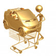 Foto Stock: Shopping cart car
