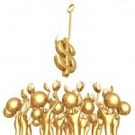 Crowd Sourcing Dollar — Stock Photo