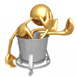 Waste Bucket - Stock Photo