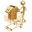 Foto Stock: Shopping Cart Clothes