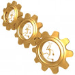 Currency Gears Locked — Stock Photo #12269046