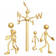 All Four Corners Weathervane - Stock Photo