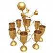 Multiple Trophy Winner Thumbs Up — Stock Photo #12269407