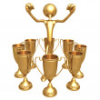 Multiple Trophy Winner Thumbs Up — Stock Photo #12269413