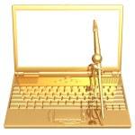 Digital Artist Laptop Frame — Stock Photo #12269733