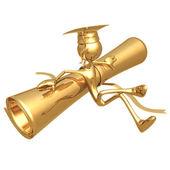 вручение диплома — Стоковое фото