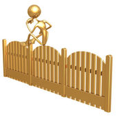 On The Fence — Stock Photo