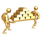 Carry Gold Bars — Stock Photo
