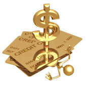Dollar de crédit dette béguin — Photo