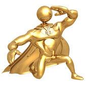 Superheld yen — Stockfoto