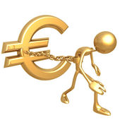 Chained To Euro — Stock Photo
