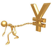 Chained To Yen — Stock Photo