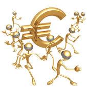 Blind To Euro — Stock Photo