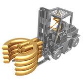 Forklift Euro — Stock Photo
