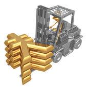 Forklift Yen — Stock Photo