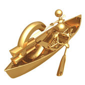 Rowboat Euro — Stock Photo