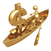 Rowboat Dollar — Stock Photo