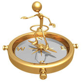 Compass Balance — Stock Photo