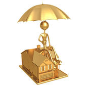 Umbrella Coverage Home — Stock Photo