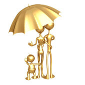 Umbrella Coverage Family — Stock Photo