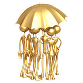 Umbrella Coverage Workforce — Stock Photo