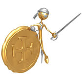 Pirate Doubloon — Stock Photo