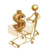 Alışveriş sepeti doları — Stok fotoğraf