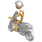 Moped concept — Stock Photo