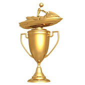 Jet Ski Trophy — Stock Photo