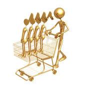 Shopping Cart Tunes — Stock Photo