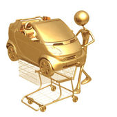 Shopping cart car — Stock Photo