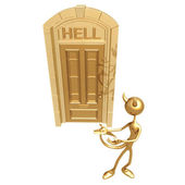 Hell door — Stock Photo