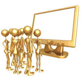 Monitor Frame — Stock Photo