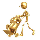 Handtruck Dollar — Stock Photo
