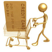 Shopping Cart Credit — Stock Photo