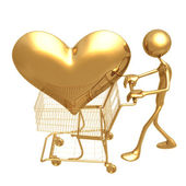 Shopping Cart Heart — Stock Photo