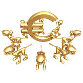 Vakt hundar euro — Stockfoto