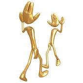 3D Giant Hand Head Concept Waving Hi Greeting — Stock Photo