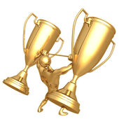 Trophy Weight Lifting — Stock Photo