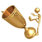 Kick The Trophy — Stock Photo