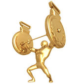 Weight Lifting Gold Medals — Stock Photo