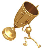 Lifting Giant Trophy — Stock Photo
