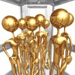 Crowded Elevator — Stock Photo